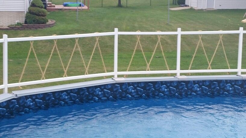 Homemade Pool Fence Backyard Fences Front Yard Fence Modern Fence