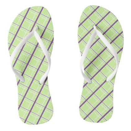 Plaid Customize your background color Flip Flops - summer gifts