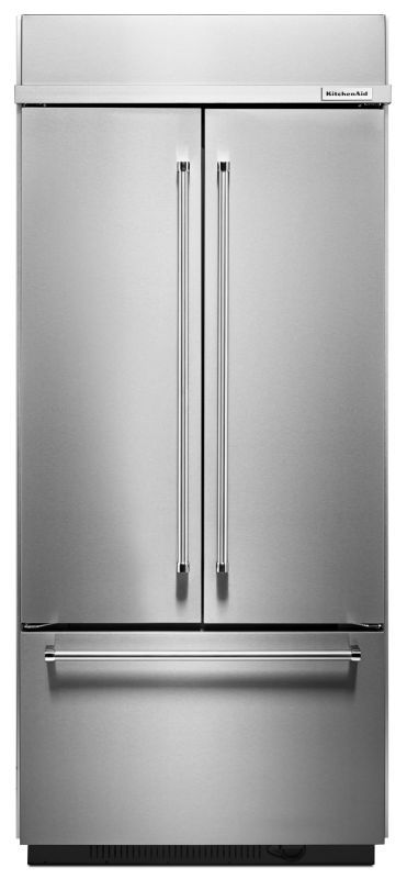 Merveilleux KitchenAid KBFN406E 36 Inch Wide 20.8 Cu. Ft. Built In French Door  Refrigerator Stainless Steel Refrigerators French Door Fridge
