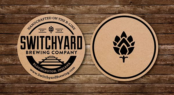 Elyse Myers Design - Indianapolis Graphic Design Switchyard Logo #brewerylogo #beer #beerlogo #logo #coaster #beercoaster