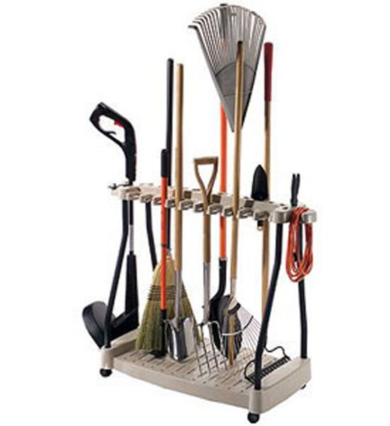 Keep Your Garage Or Tool Shed Organized With The Yard Tool Organizer Rack  Which Holds 20