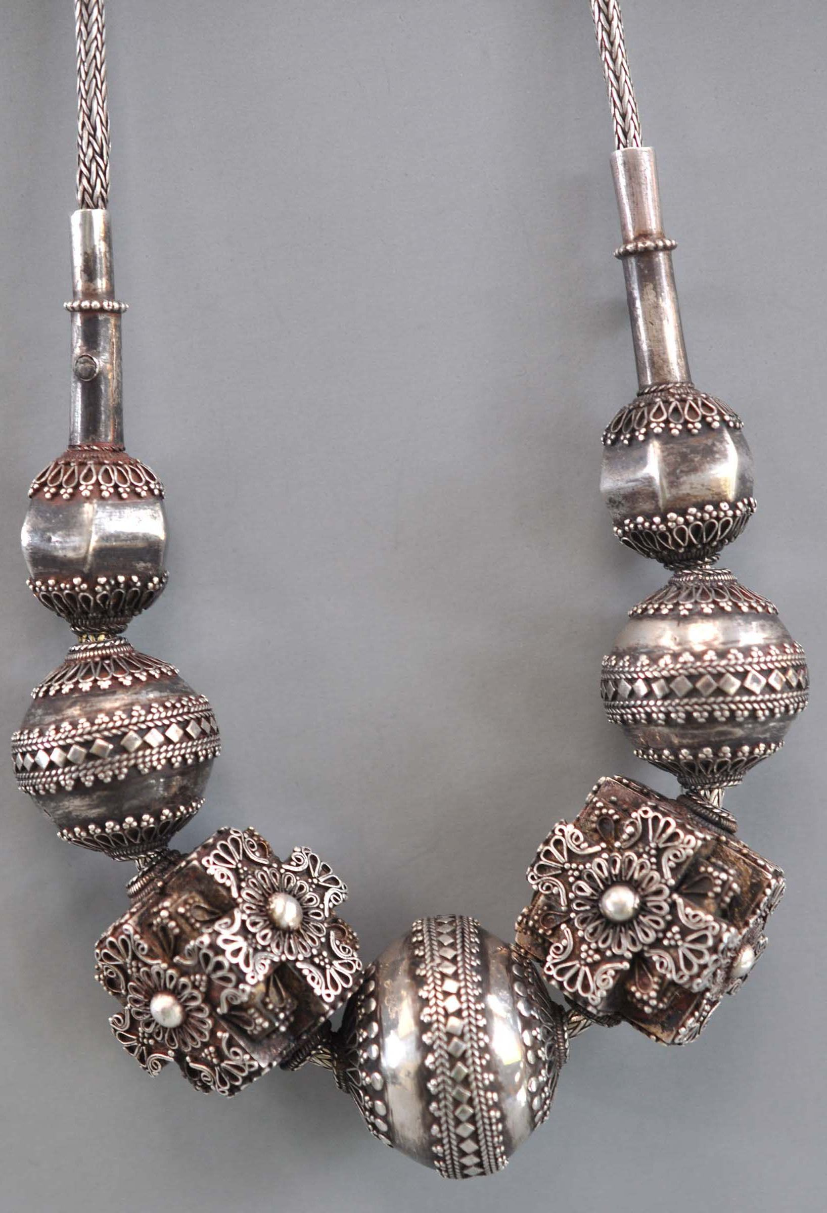 South India   Granulated silver necklace      Sold archives of Singkaing ~ mailto:Info@singk...