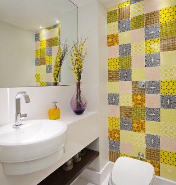 Patchwork vitaminé salle de bain salle de bain d\u0027enfants Pinterest