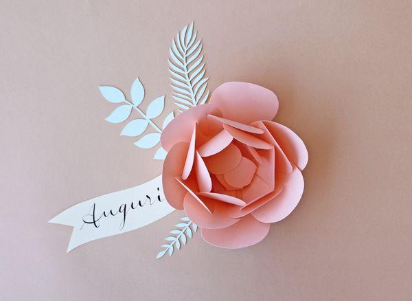 Fiori 3d Carta.Fiore Di Carta 3d Handmade Paper Flower 3d Creazioni Coi