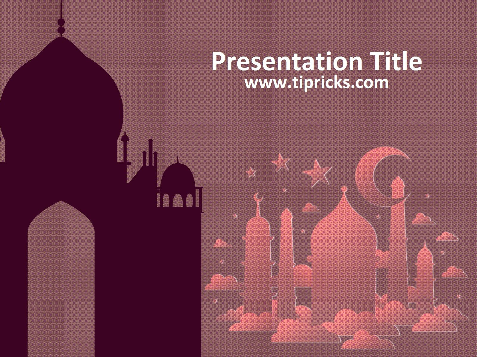 Purple mosque powerpoint template powerpoint templates purple mosque powerpoint template toneelgroepblik Images