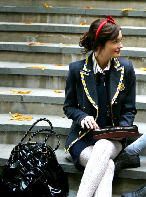 Hanhpiz's gossip girl blair waldorf school wear in pilot
