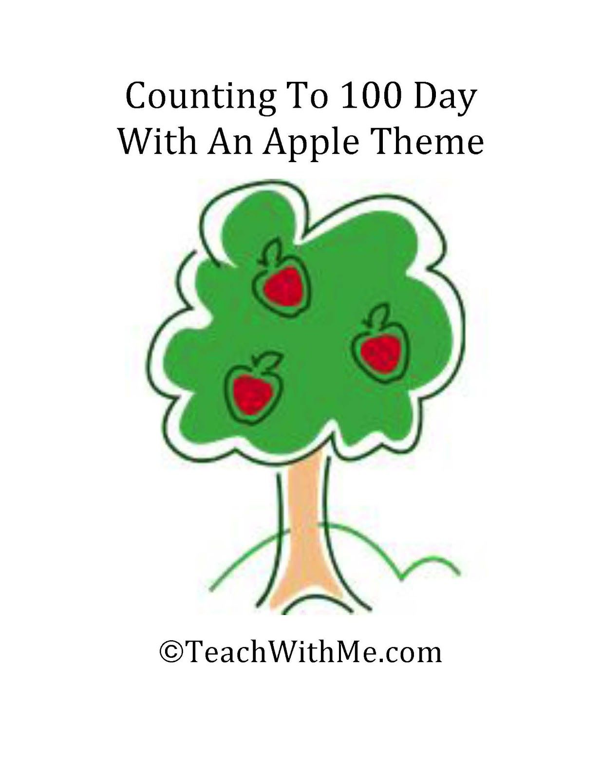 Counting To 100 Day With An Apple Theme