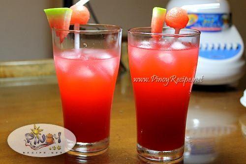 Filipino Watermelon Cooler Recipe…