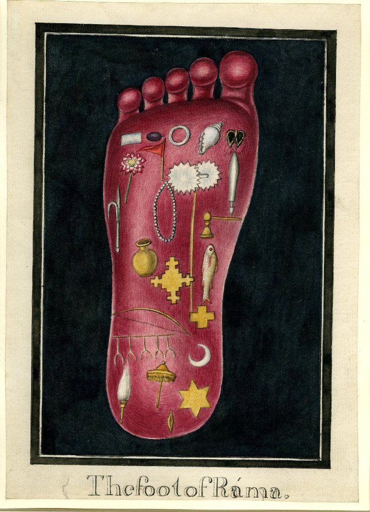 The foot of Rama
