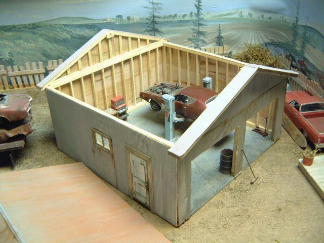 Scale Model Garage Model Cars Building Scale Models Model Trains