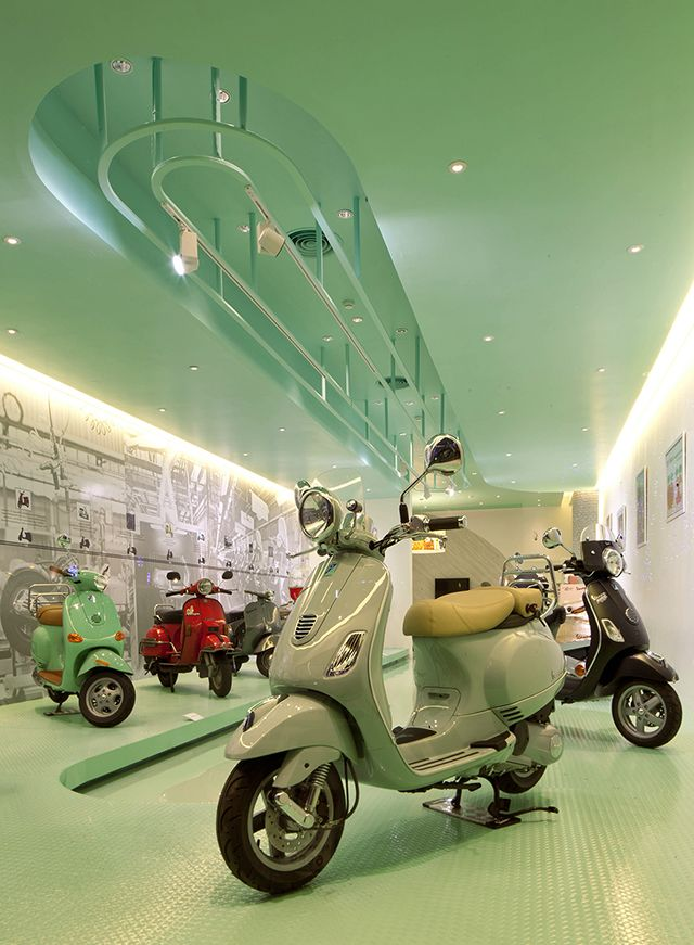 Vespa Gallery Store Bangkok By Supermachine With Images Vespa