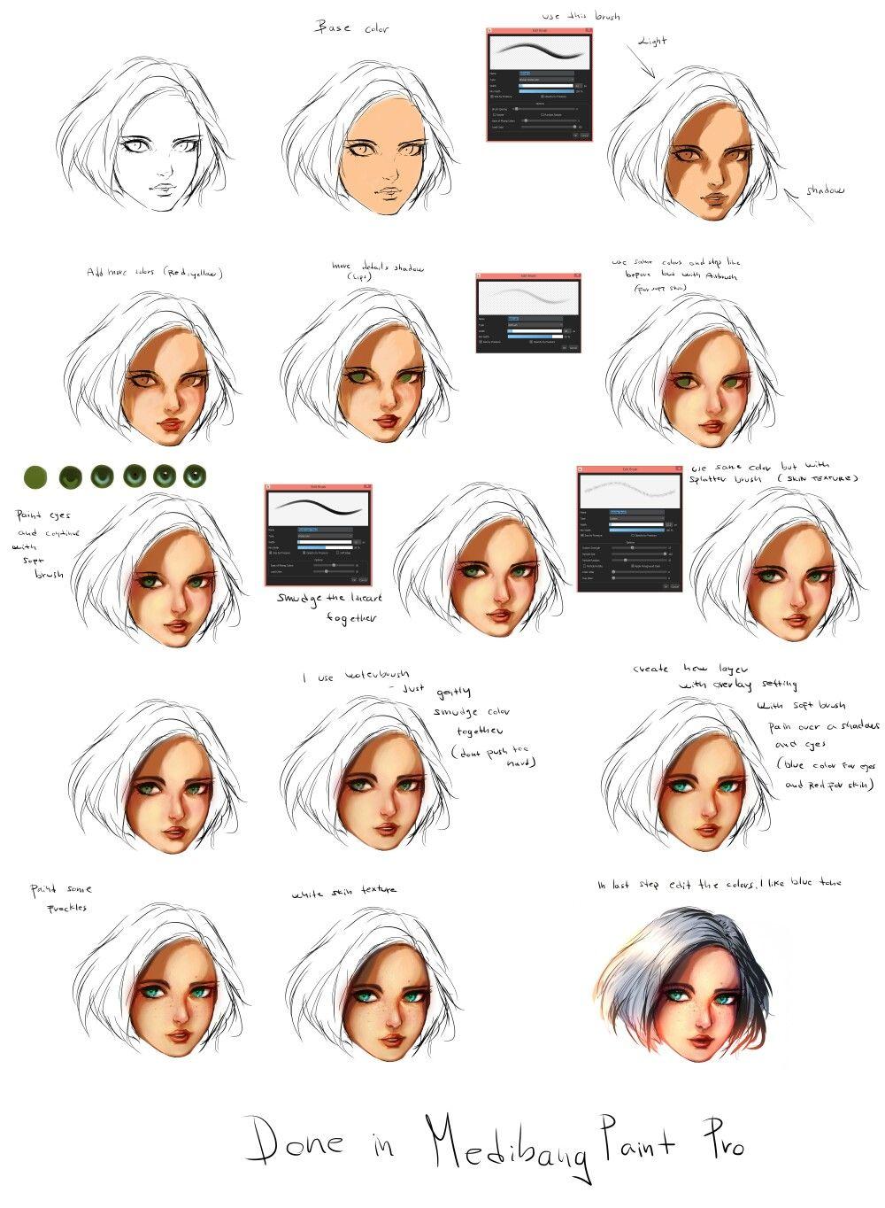 How to paint reallistic skin in medibang | art tuts | Digital ...