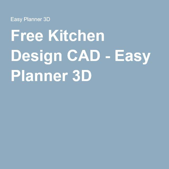 Free Kitchen Design CAD   Easy Planner 3D