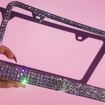 Black License Plate Frame CUSTOM PERSONALIZE CHOOSE YOUR COLOR CUSTOM FONT 2pack