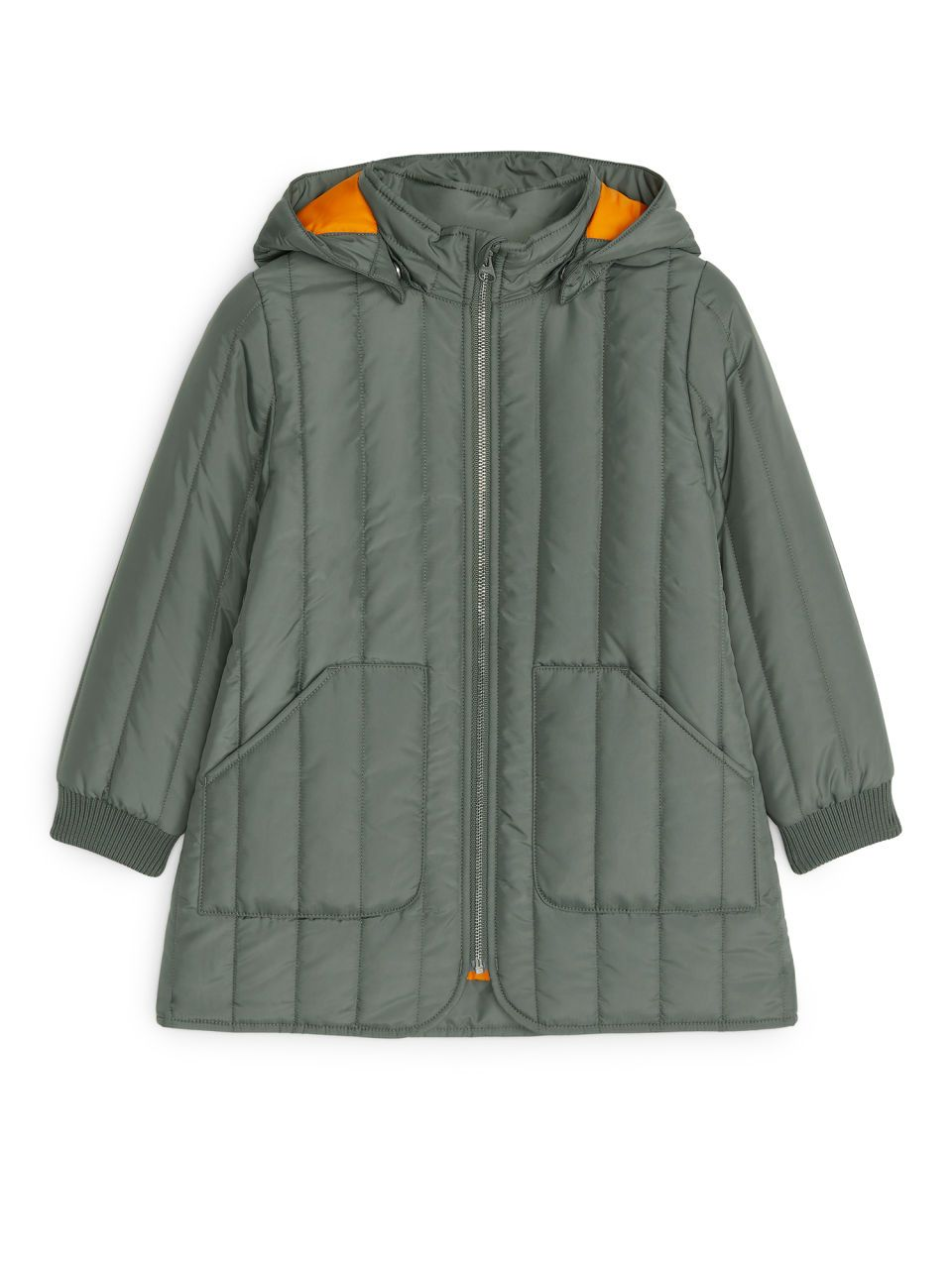 Quilted Coat Khaki Green Jackets Coats Arket Quilted Coat Kids Outerwear Green Khaki Jacket [ 1280 x 960 Pixel ]