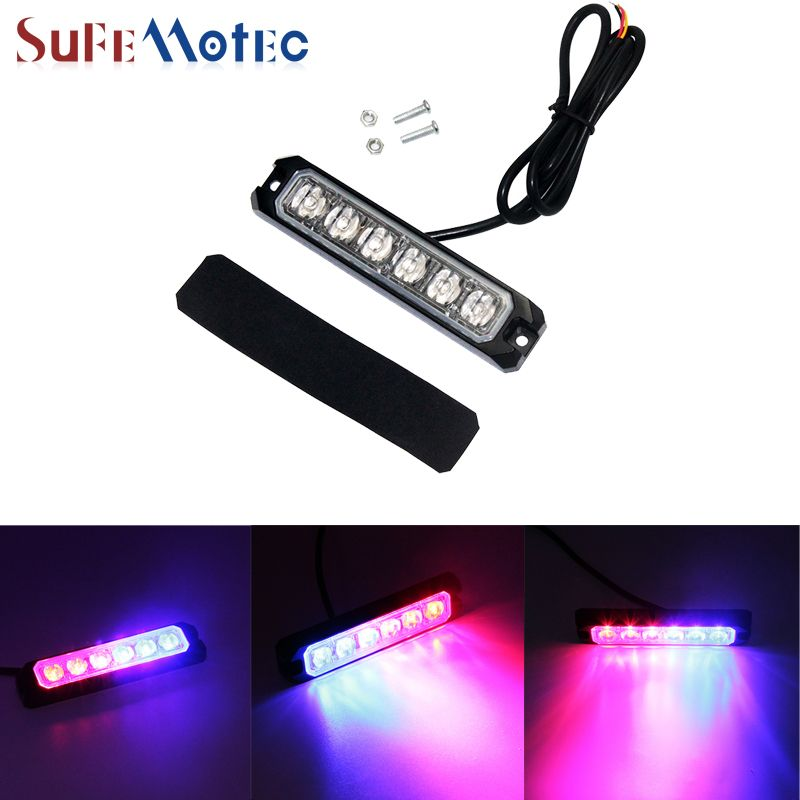 Strobe Lights For Cars Endearing Sufemotec 6W Strobe Emergency Warning Light Car Signal Amber Red