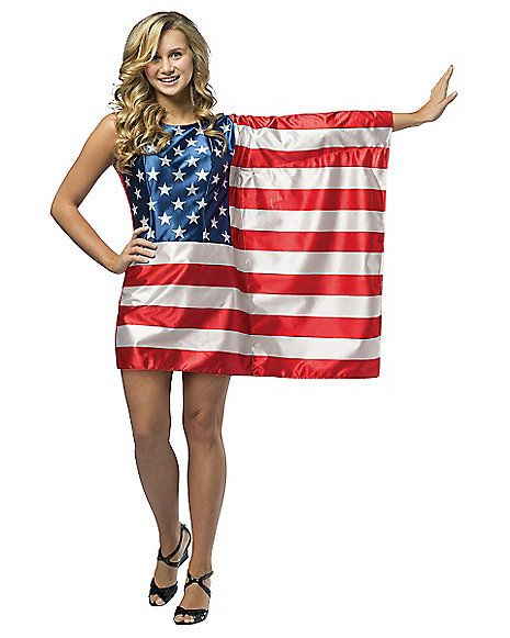 Tween Usa Flag Costume Spirithalloween Com Halloween Outfits For Women Dress Up Outfits Halloween Outfits