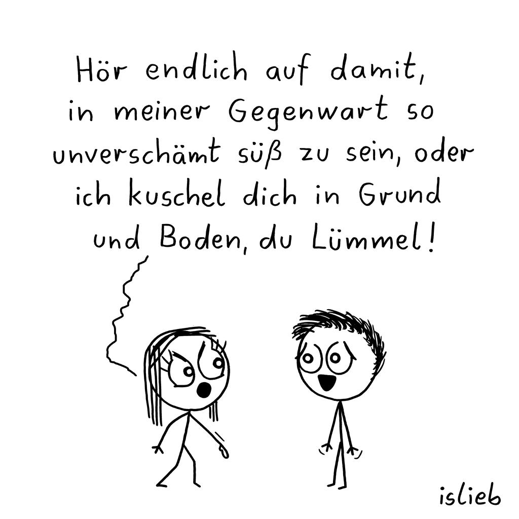 Letzte Warnung   Kuschel-Cartoon   is lieb?