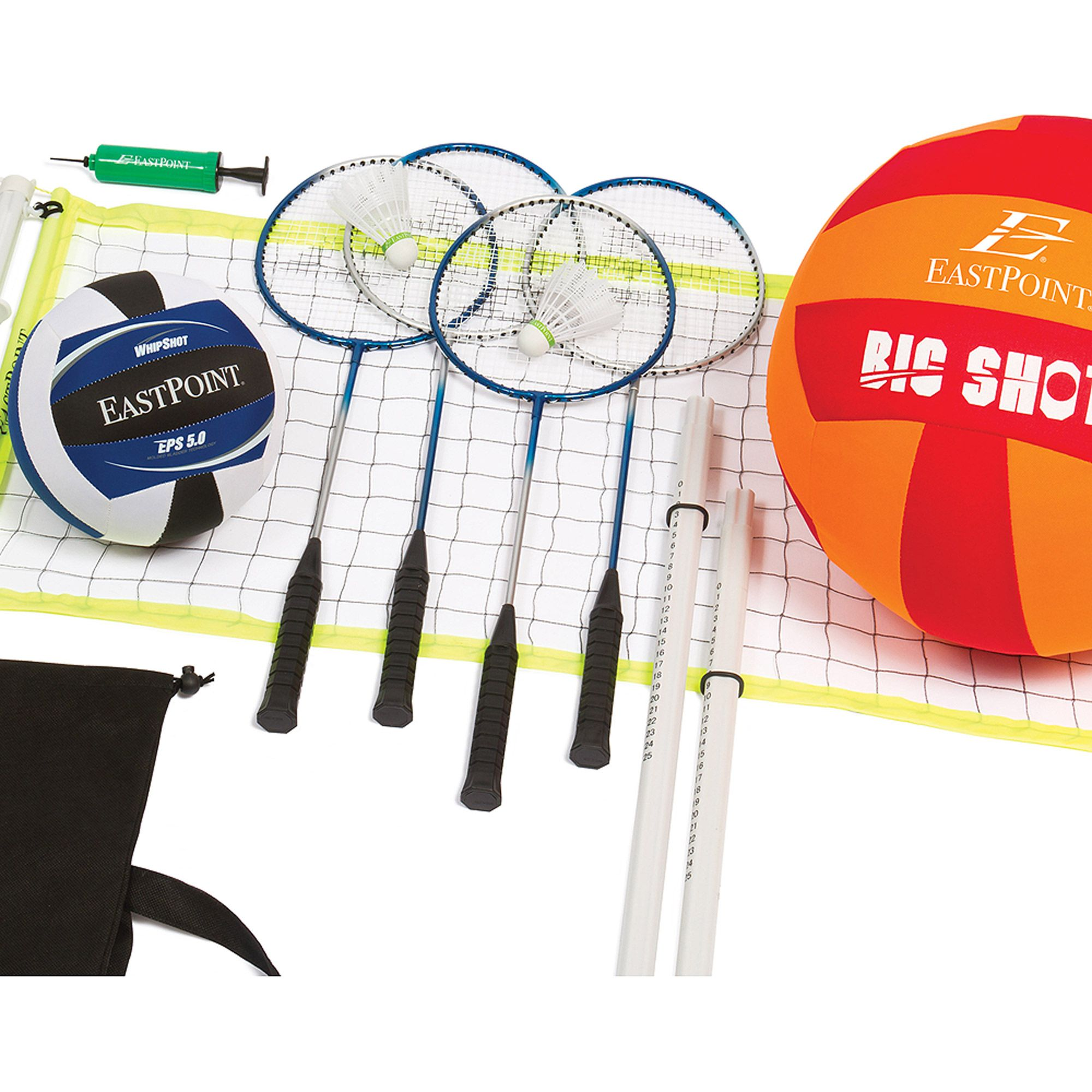 Buy Eastpoint Sports Volleyball And Badminton Set At Walmart Com Badminton Set Sport Volleyball Eastpoint