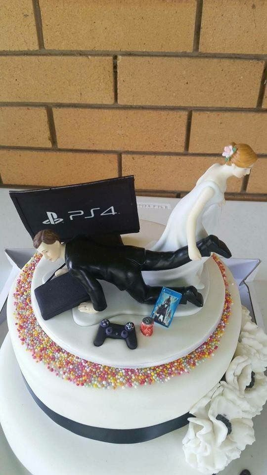 Ps4 Gamer Cake Topper Random Funny Wedding Gamer Wedding Cake