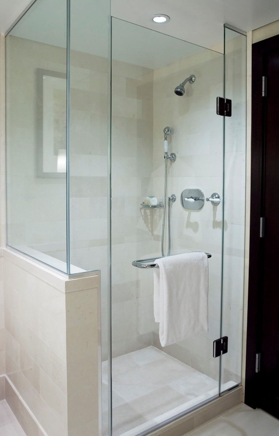 Nice Glass Shower Enclosure For Narrow Space Paired With Stainless ...