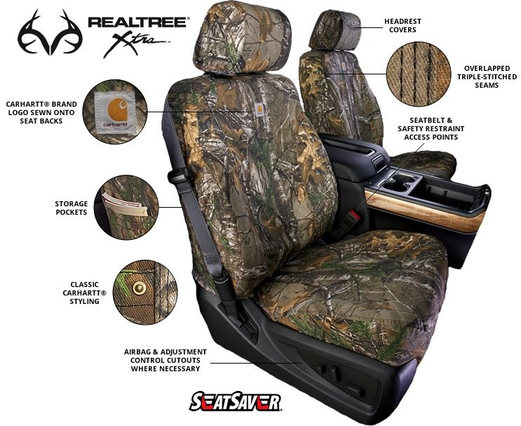 Carhartt RealTree Seat Savers Truck CoversCamo