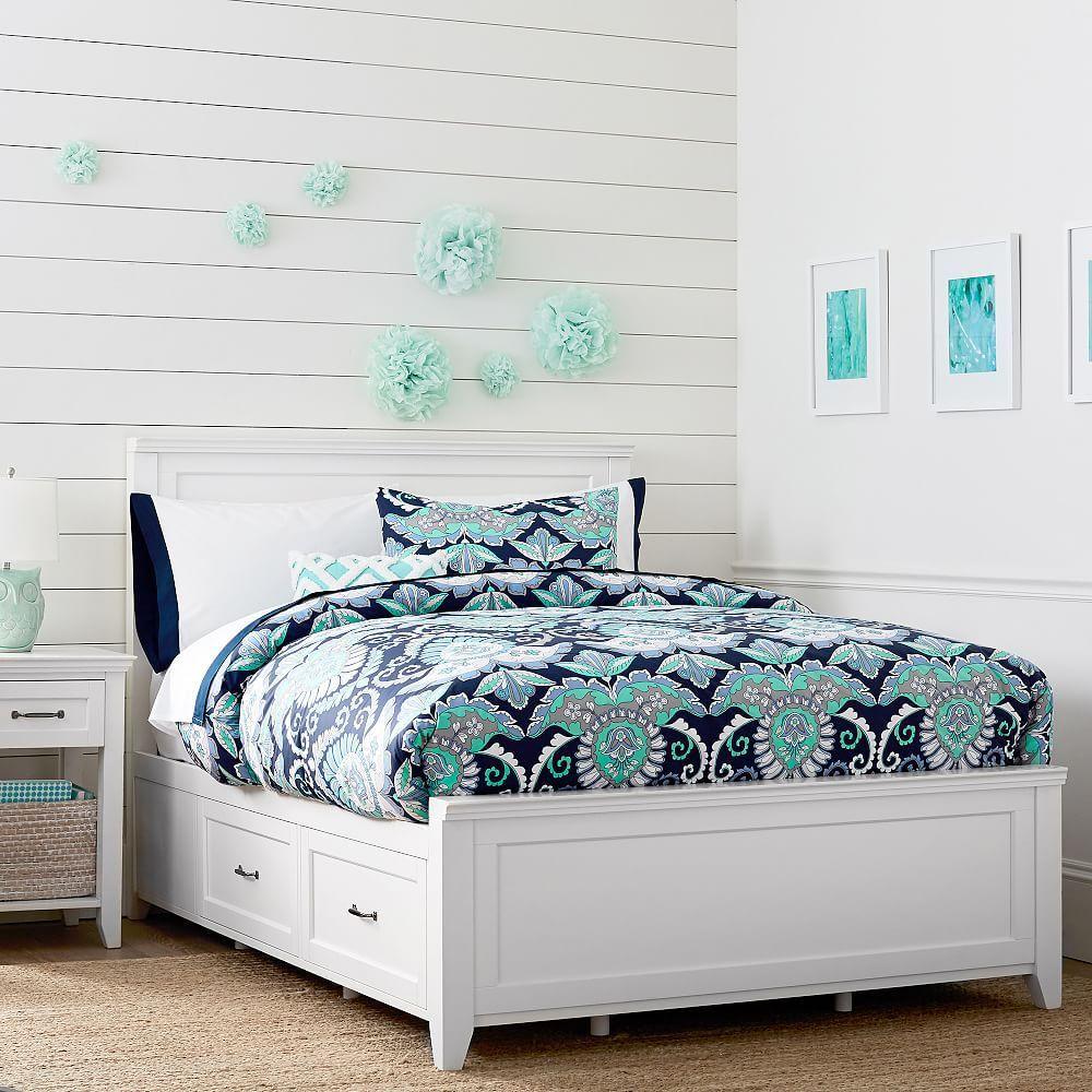 Hampton Storage Bed Decoración de habitación juvenil