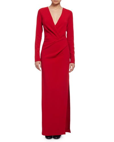 Womens Short-Sleeve Column Gown Lanvin 605BY