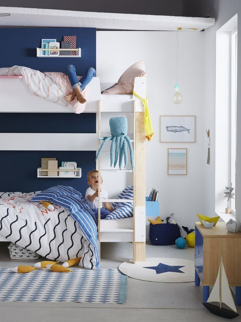 Deco Chambre Garcon Bleu 2020 1004 In 2020 Kids Bedroom Decor Boy Girl Room Blue Furniture