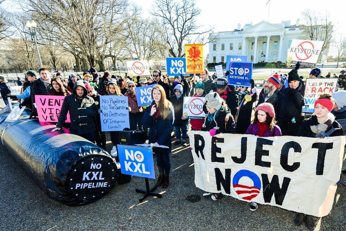 More Protesters In Washington Outside The White House Monster Trucks Nodapl Standing Rock