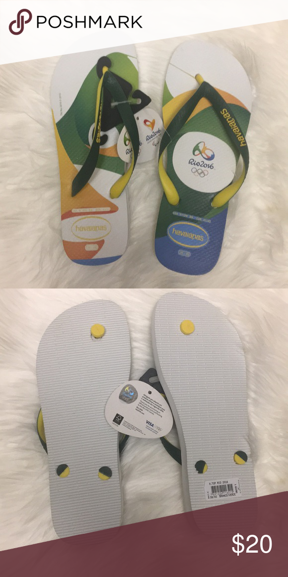95bb9b7e4 Havaianas Rio 2016 Olympics White Price firm Brand new never worn. Bought  at the Rio