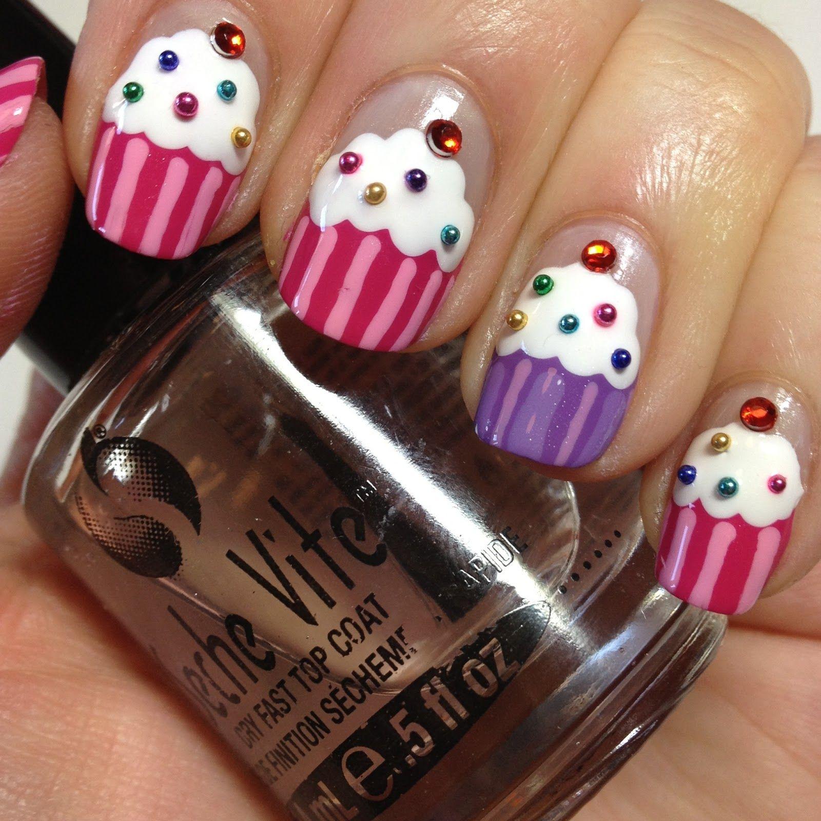 Cupcake Nails: Non-Edible Cupcakes