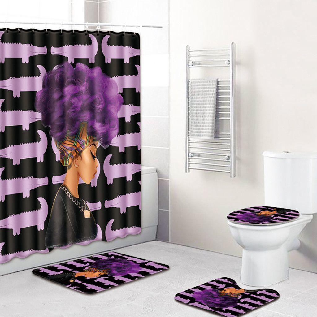 Three Dimensional Cool Scenic Shower Curtain Toilet Cushion 4