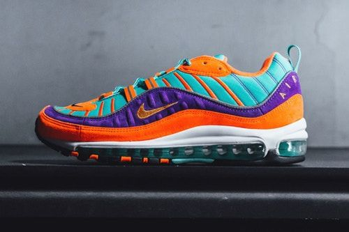 competitive price 5406e 92928 ... usa nike delivers a bold turquoise orange purple air max 98 qs 82760  3f918