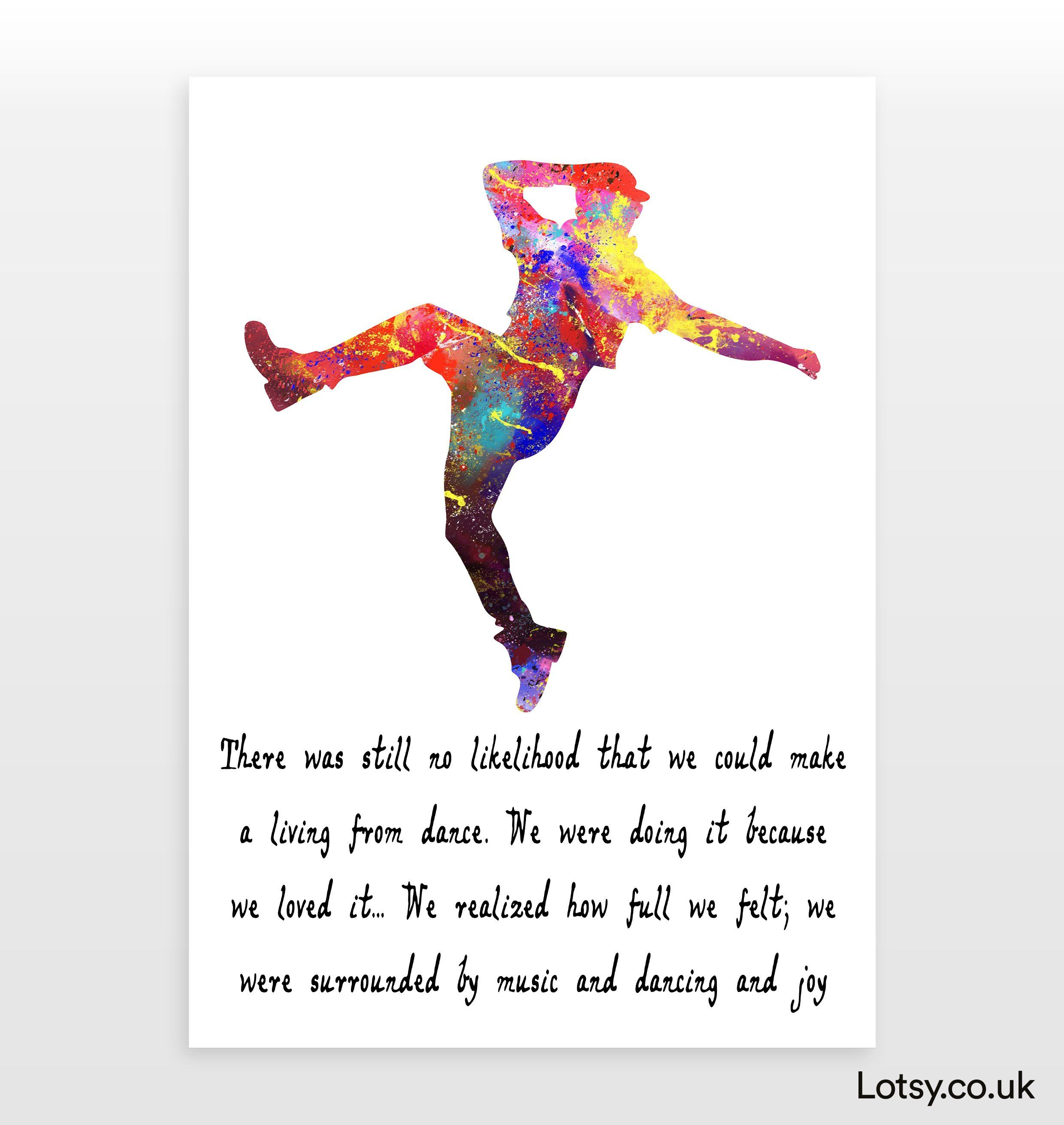 Ballet Quote - There was never a merry world since the fairies left off dancing - A1 - (594mm x 841mm) (23.4inch x 33.1inch)