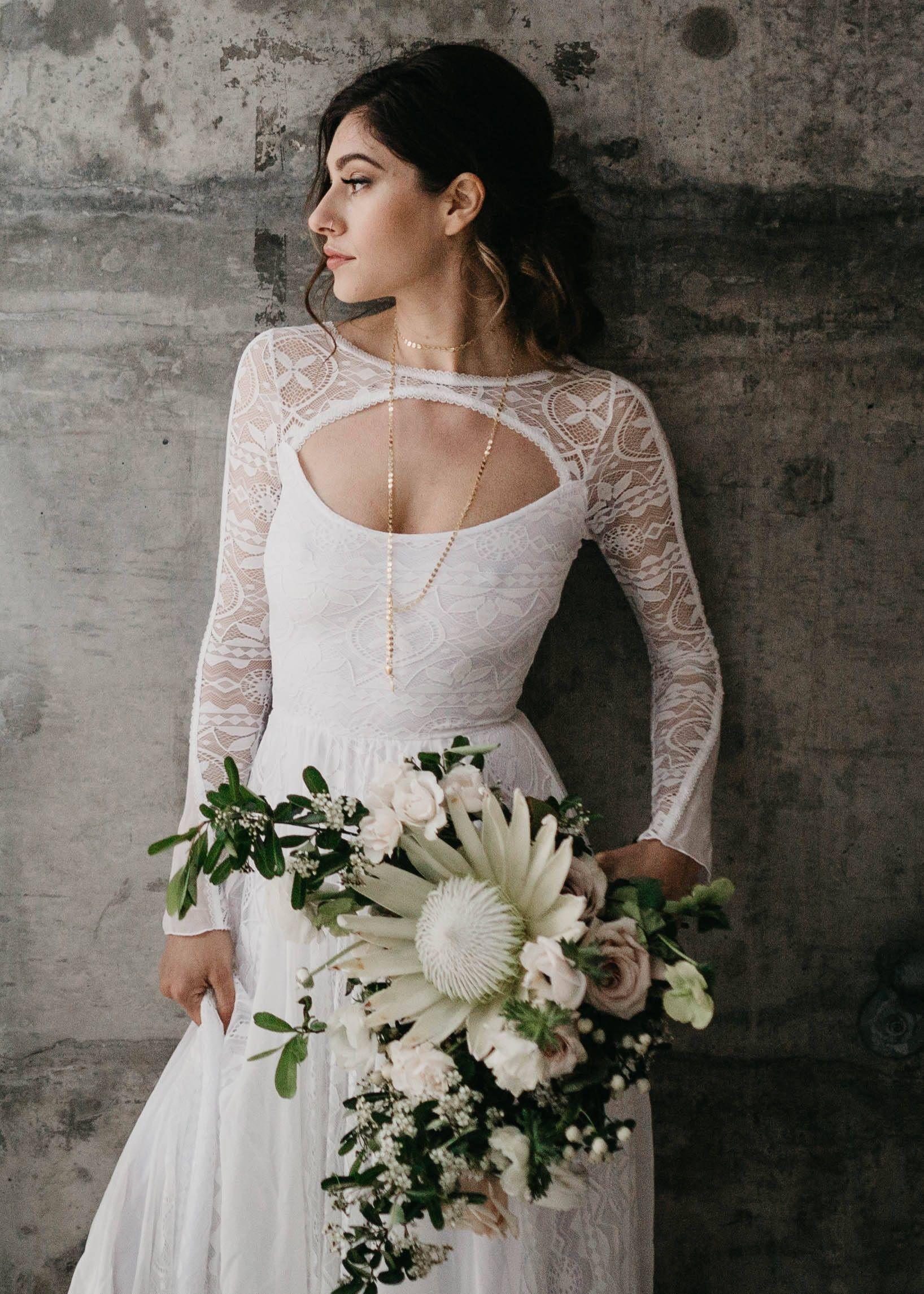 Long sleeve wedding dress lace long sleeves lace wedding dress