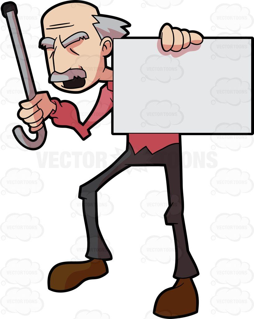 A Grandpa Holds A Sign Board While In Protest Signboard Men With Grey Hair Grandpa