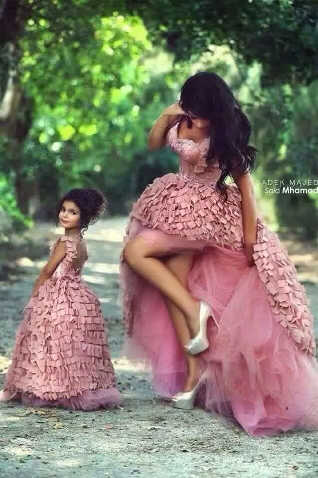 Vestidos iguales madre e hija | bautizo | Pinterest | Madres, Hijos ...