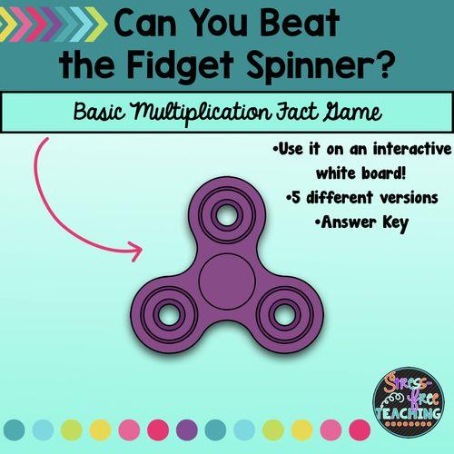 Multiplication Fact Practice - Beat the Fidget Spinner ...