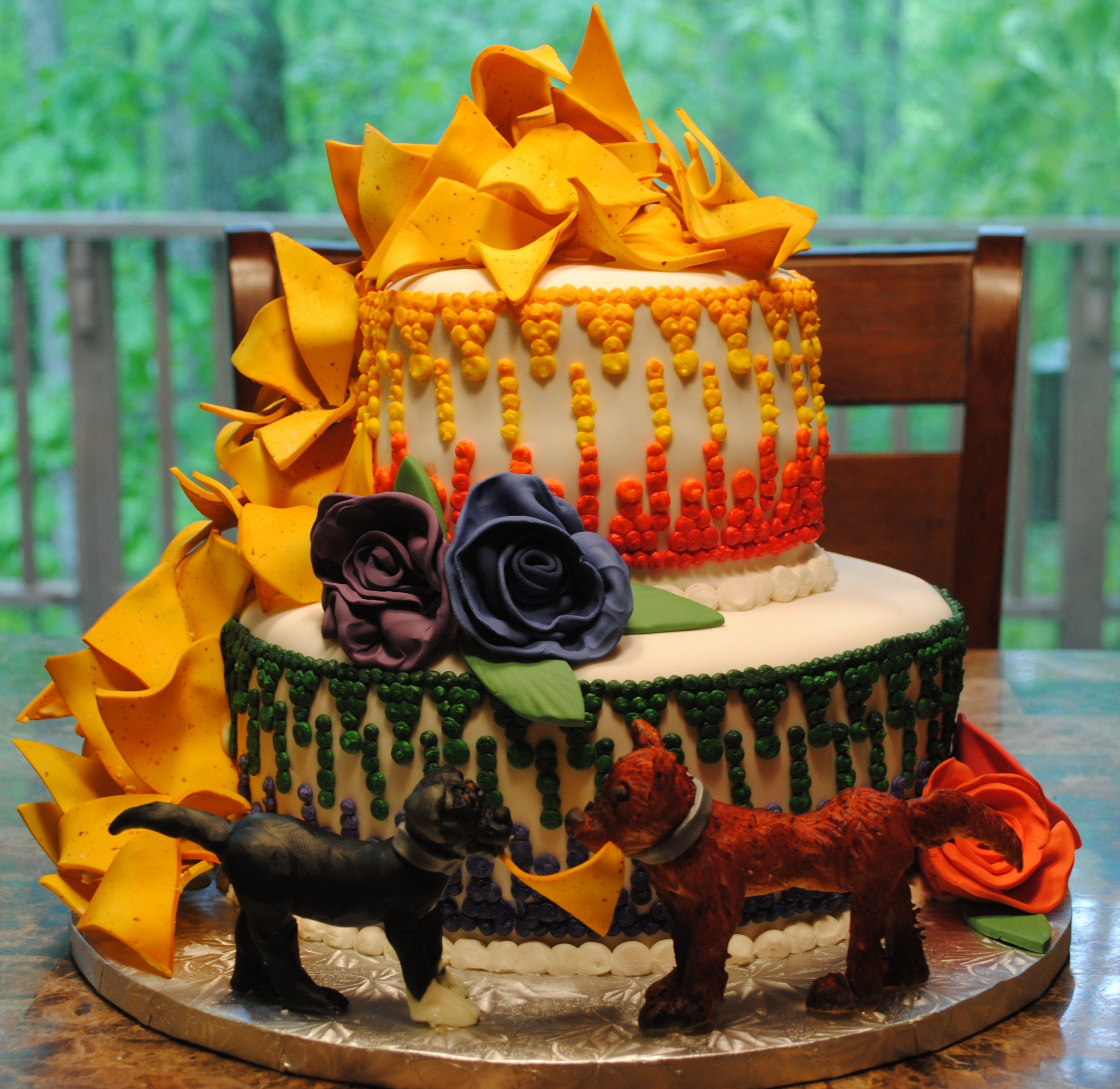 Fiesta Engagement Party Cake