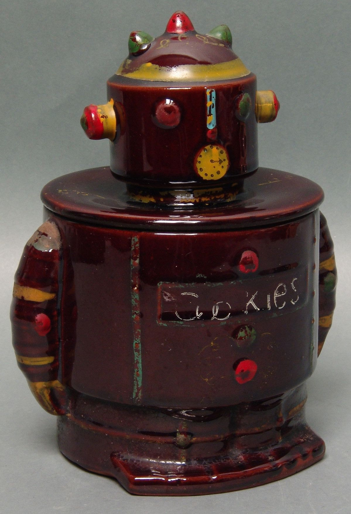 Nice Cookie Jars Vintage Japan Ceramic Clock Robot Cookie Jar Cookie Jars