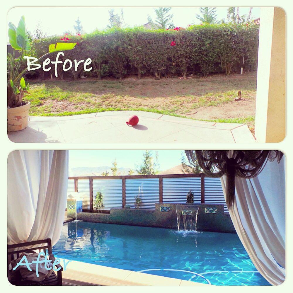backyard swimming pool before u0026 after backyard