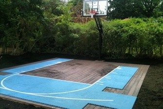 Basketball Court On A Deck Basketball Court Backyard Home Basketball Court Backyard Sports