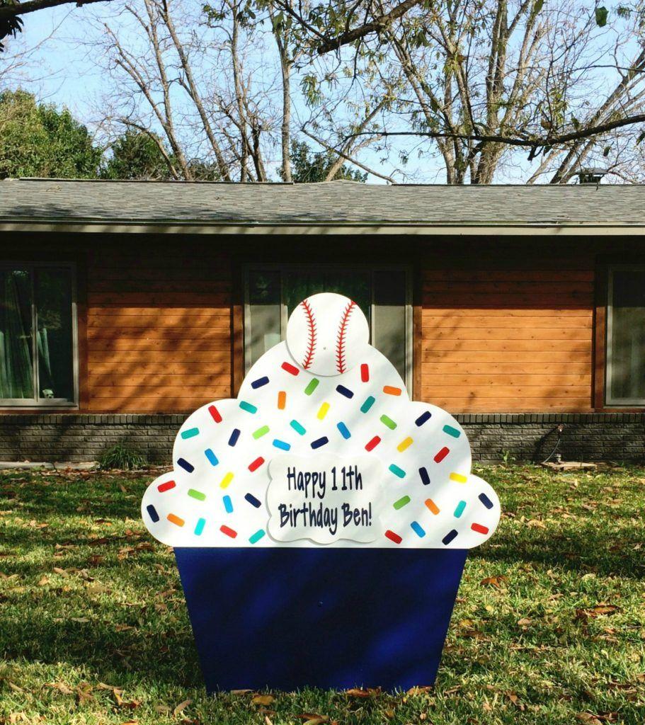 Giant Cupcake Birthday Lawn Sign San Antonio Birthday