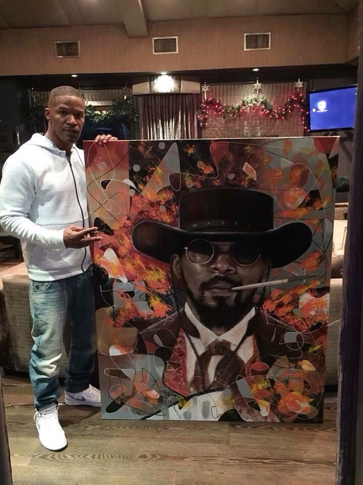 My buddy painted this for Jamie Foxx