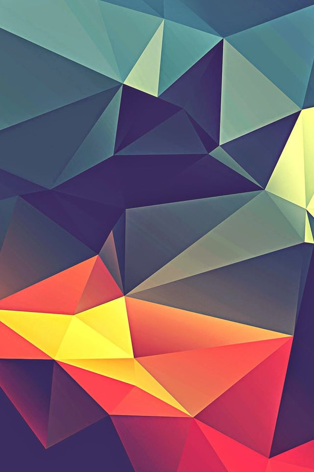 colorful polygonal render phone 4s wallpaper iphone 4 s