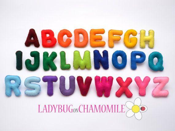 Felt Magnet Alphabet Etsy In 2020 Felt Magnet Felt Letters Alphabet