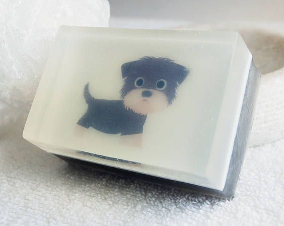 Yorkie Puppy Soap Melt And Pour Glycerin Novelty Gifts Guest