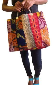 Handmade African Print Multicolor Tote Bag. Get one of the hottest styles of the season! The Handmade African Print Multicolor Tote Bag is a top 10 member favorite on Tradesy. Save on yours before they're sold out!