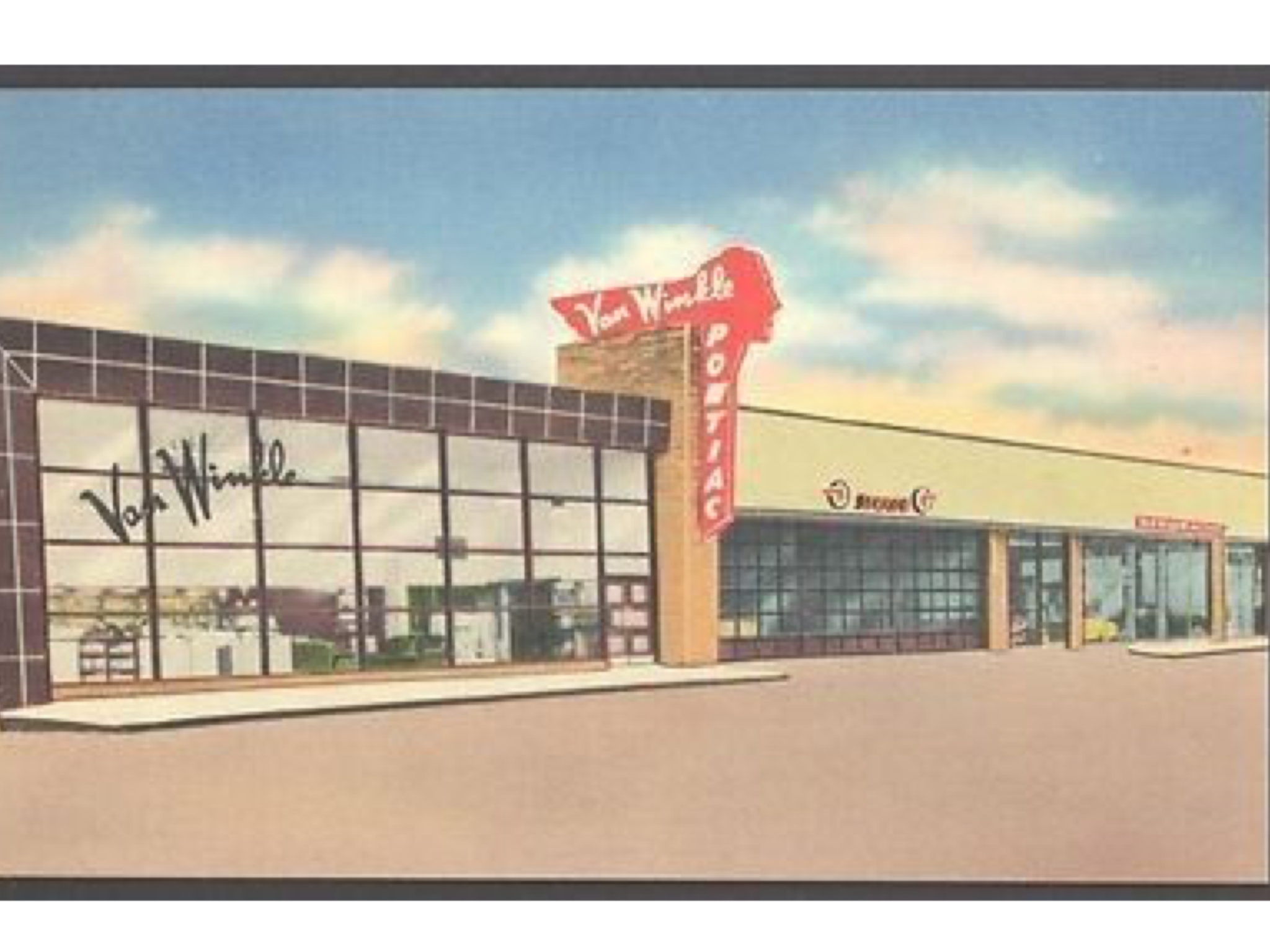 1950 S Van Winkle Motor Co Pontiac Dealership Dallas Texas